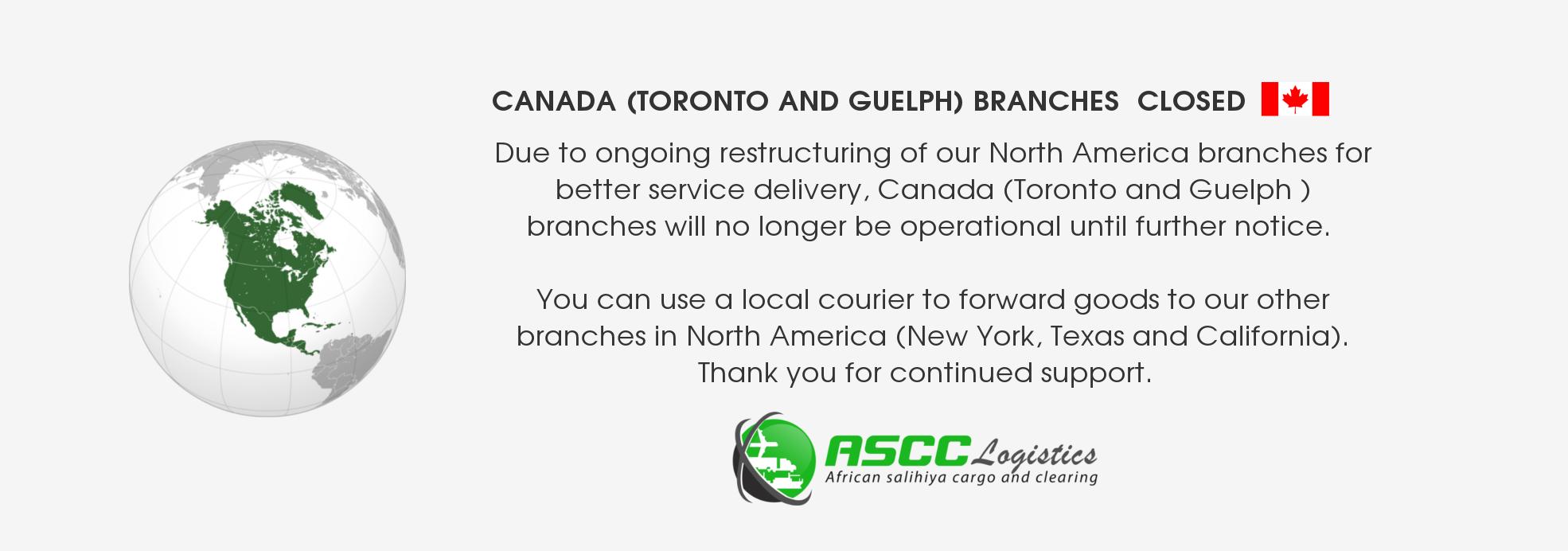 Canada Branch Closed